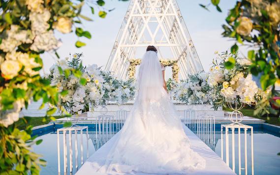 【特惠】海边旅行婚礼/场地+婚礼布置+四大金刚