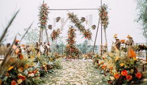 【浪漫嫁期】限时优惠 新人喜爱秋天的童话橙色婚礼