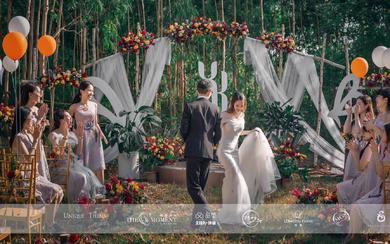 美式乡村风格户外小树林婚礼