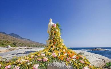 户外沙滩礁石婚礼《山海蝶恋》