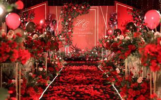 【We婚礼】红色丨简约丨撞色丨植物【简约红】