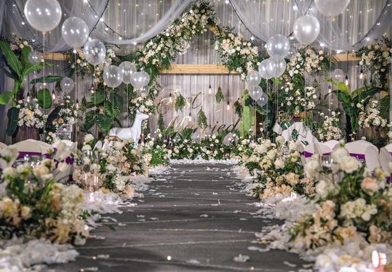 【蕊结婚礼】INS风简约森系婚礼白绿色小清新风格