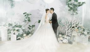 喜若婚礼 |酒楼婚礼改造 超清新布置+四大金刚
