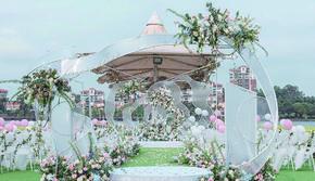 19年网红透明高级感婚礼设计花艺满分超值一站式