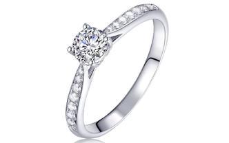 钻石海洋—许愿—50分四爪许愿求婚结婚钻戒