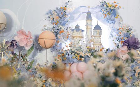 雷迪森 哈尔的移动城堡 粉蓝色系小清新婚礼