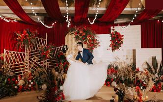 【谧腾婚礼定制】含四大 红棕色系美式婚礼复古怀旧