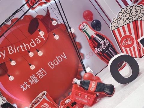 【一禧婚礼策划】红色主题 茂名宝宝宴 卡通