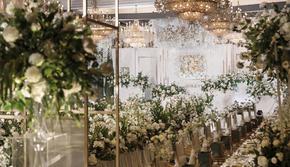 白绿色现代大气婚礼含司仪摄影摄像化妆