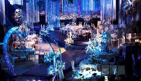 蓝色英伦风  小型婚礼之选 静谧蓝婚礼