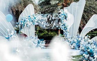 户外草坪婚礼小清新婚礼布置含摄影化妆摄像3选1