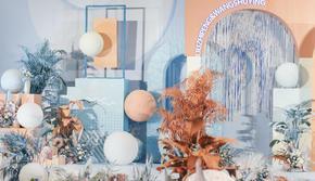 汇爱婚礼 | 清水蓝&蜜瓜橙的2.5D立体绘制
