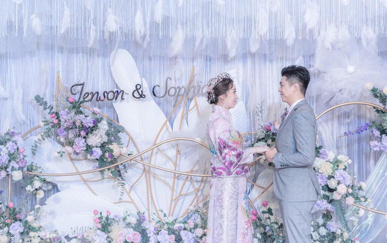 SVIP特惠 -《梦幻羽毛风》浅紫色婚礼