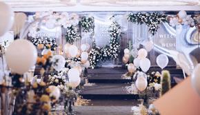 灰白色系|简约大气的西式浪漫婚礼¥限时特价