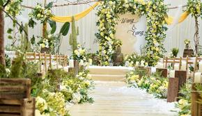 一价全包(婚策+四大金刚)户外黄绿色小清新婚礼