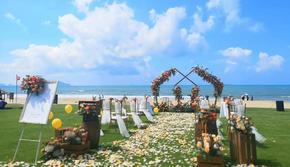 三亚浪漫婚礼 海边 沙滩婚礼