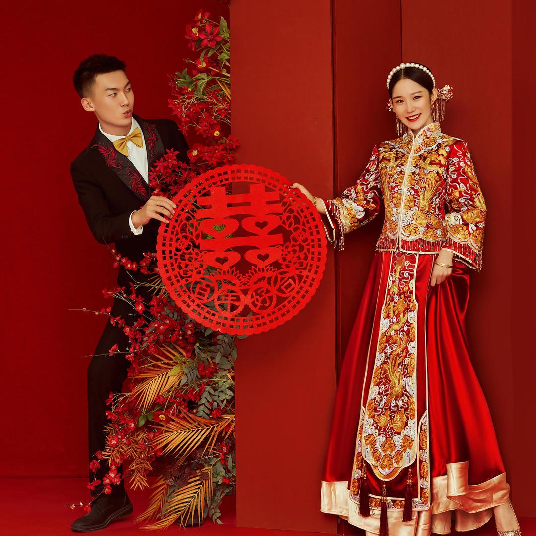 [中式喜嫁] [ 复古民国 ] 内外景定制婚纱照