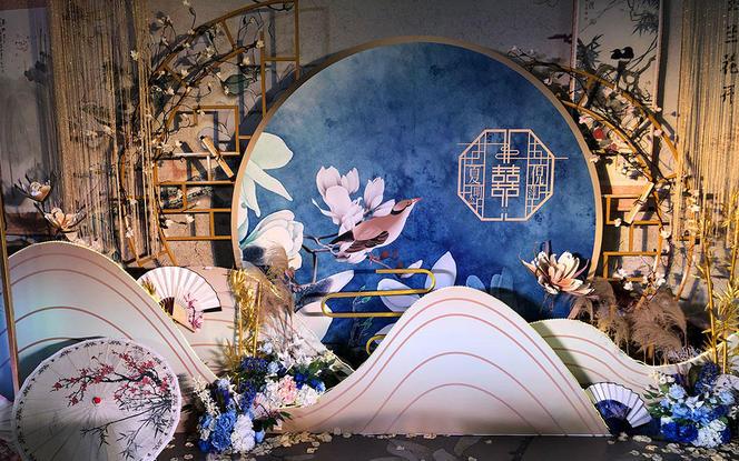 【梦悦婚礼】层次感含迎宾 | 新中式《玉兰花开》