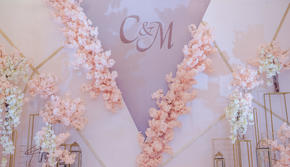 粉色浪漫系婚礼—守护甜心