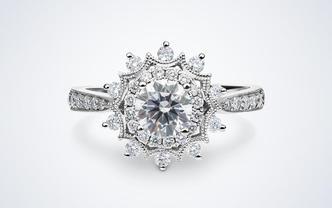 梵尼洛芙-璀璨 新品上线镂空花托显钻设计