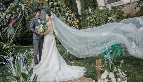主打白绿草坪婚礼 小清新 简约大气