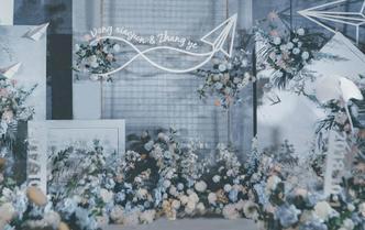 【巧目婚礼】灰蓝飞机 主题婚礼 简约