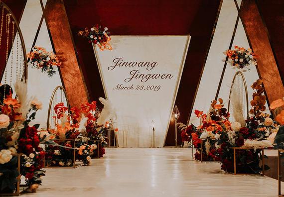 復古簡約紅色婚禮