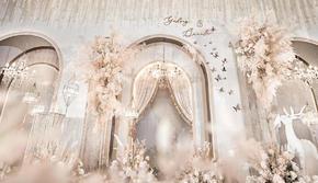 遇见婚礼策划  香槟色轻奢主题婚礼(含四大金刚)
