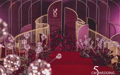 暗红色极简主义婚礼——五厘米婚礼