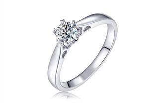 钻石海洋—花火—50分六爪求婚结婚钻戒