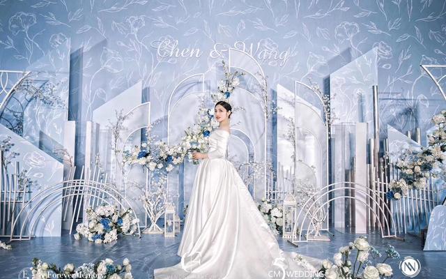 浅蓝色小清新婚礼——五厘米婚礼