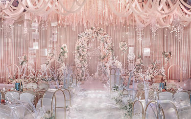 【秘密花园】——清新粉色花艺婚礼