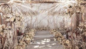 晞爱策划丨香槟白唯美婚礼《怦然心动》