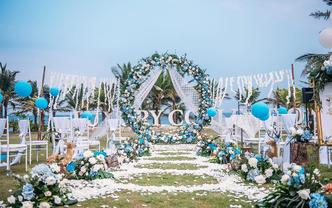 海米的故事  精致小型海边草坪婚礼