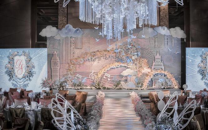 城中香格里拉-马克龙色系游乐园风婚礼