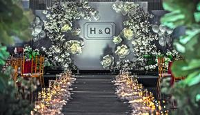 【囍记·婚礼】灰蓝色简约室内婚礼送4大