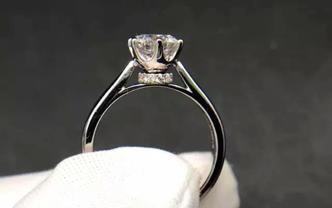 钻石海洋——婚戒——50分六爪皇冠