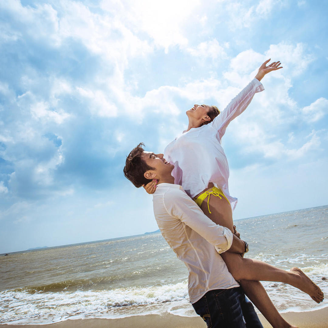 安娜高端婚纱摄影三亚旅拍 沙滩海景