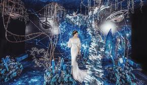 撷星 蓝色星空 深邃高级感轻奢婚礼