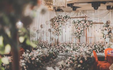森系不是只有白绿《粉绿色清新婚礼》