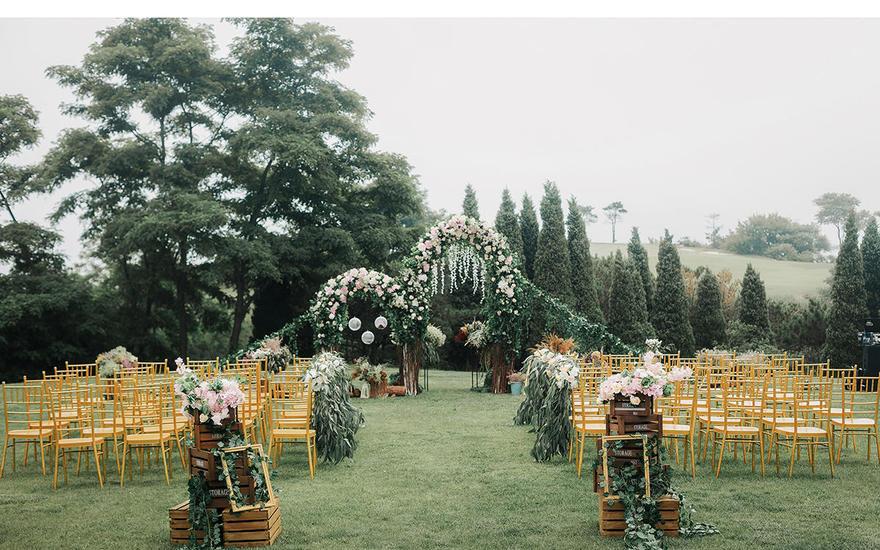 【室外白绿小清新】——臻尚婚礼定制