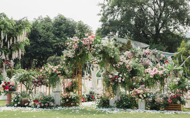 【梦梵婚礼】6折莫奈花园风格户外婚礼包含四大金刚