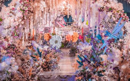 【伯妮】梦幻童话风直击少女心 爱丽丝主题定制婚礼