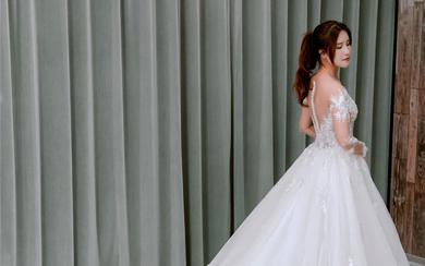 主纱 仪式纱丨奢华重工钉珠蕾丝轻婚纱
