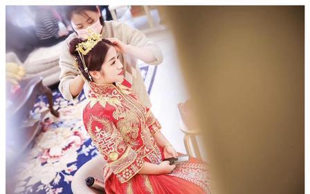 中式造型集锦  全日新娘跟妆 首席化妆师 带助理