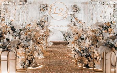 【嗨购】简约香槟色大理石纹主题婚礼 限时特惠