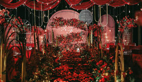 手牵手婚礼   红黑大气复古婚礼