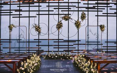 【1990婚礼企划】海外露台唯美婚礼-被偷走的岛