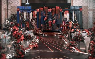 【梦梵婚礼】5折红黑线条风包含四大金刚