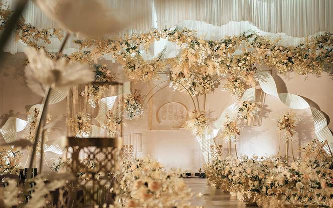 【ALAN婚礼定制】网红香槟色清新欧式性价婚礼